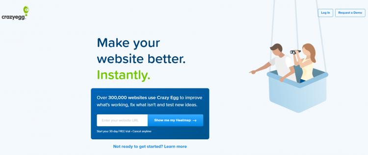 CrazyEgg conversion funnel example screenshot