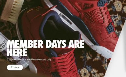 Nike+ is a loyalty plan for high-value members that get access to pre-releases and exclusive content