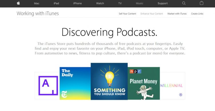 iTunes podcasts screenshot