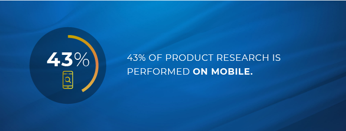 43% of product research is done on mobile