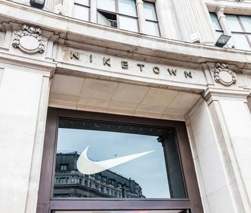 Nike storefront – the brand sees growth in digital sales during COVID-19 crisi