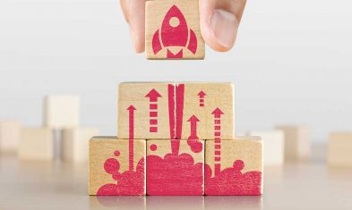 a rocket symbolizing business growth