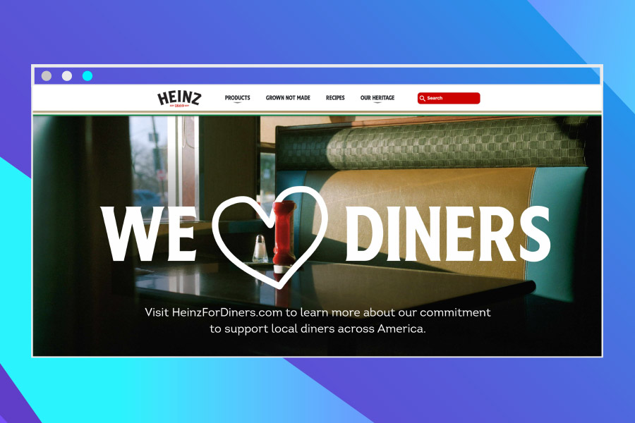 eCommerce platforms: Screenshot of Heinz Home Page