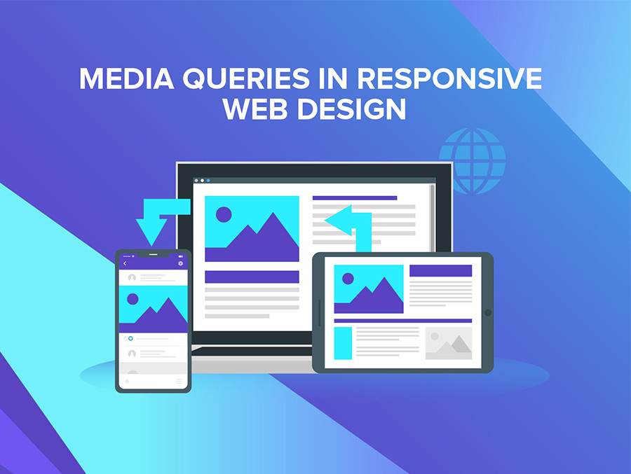 Responsive web design: example of media queries