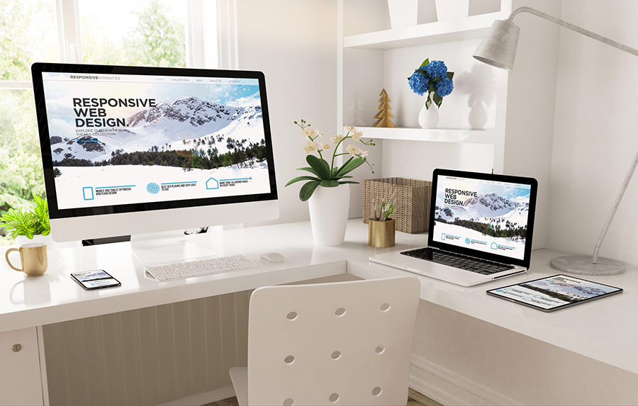 different devices showing responsive web design