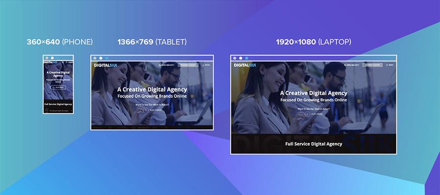 Responsive web design: Screen sizes with Digital Silk website