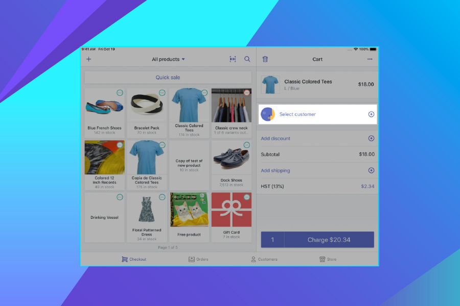 eCommerce platforms - Screenshot of Shopify customer profile