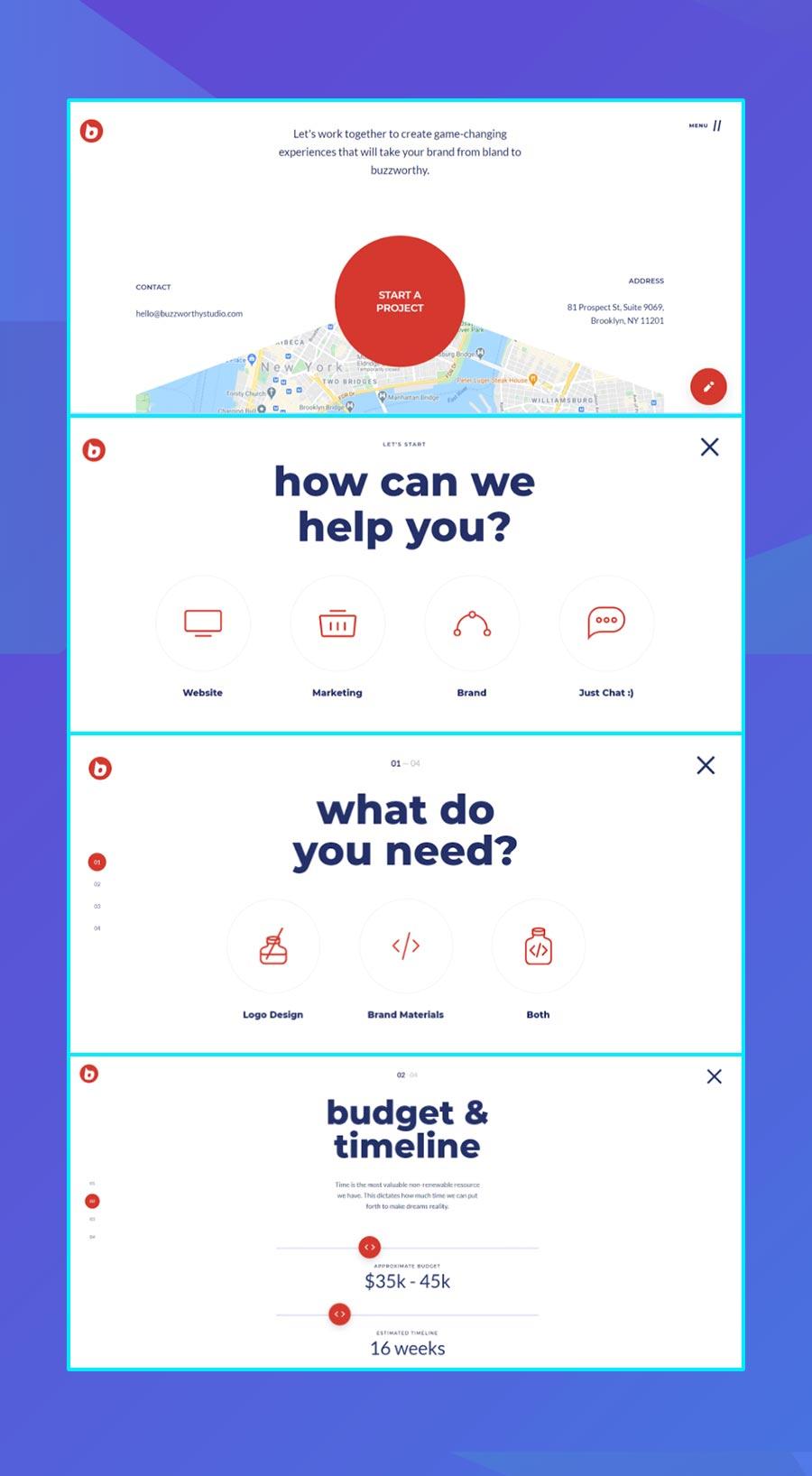 Modern website design: Buzzworthy Studios' conversational UX