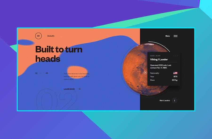 Modern website design: GlobeKit's use of color