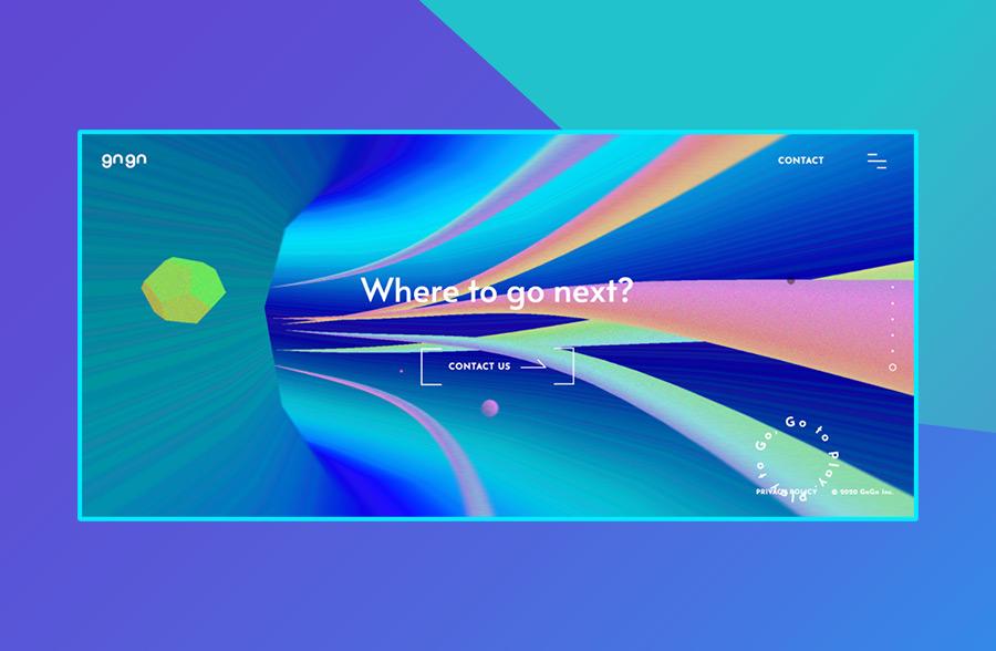 Modern website design: GnGn's use of color