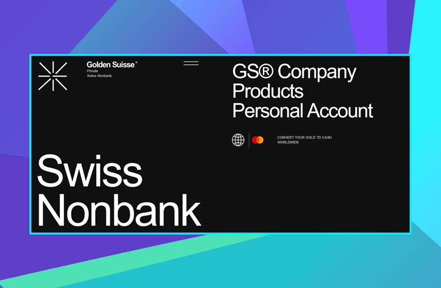 Modern website design: Golden Suisse's use of typography
