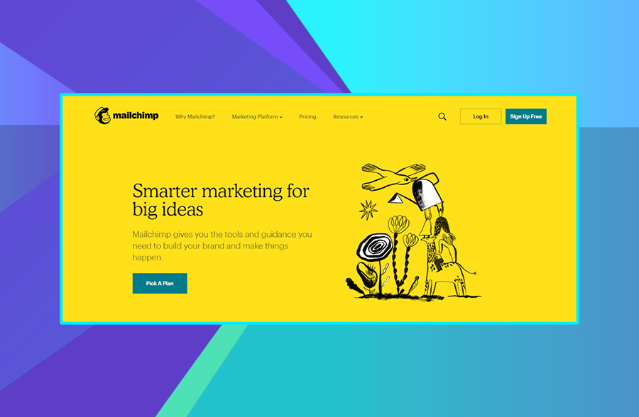 MailChimp homepage header