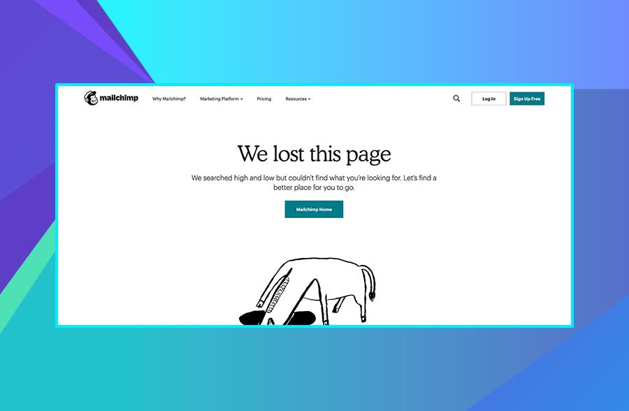 MailChimp 404 page