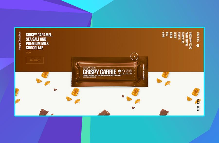 Simply Chocolate homepage
