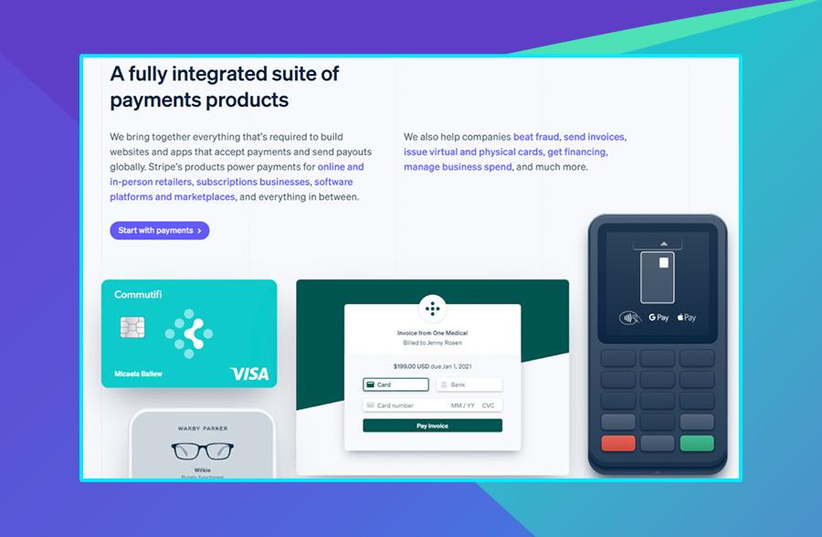 Modern website design: Stripe's use of 3D graphics on their website