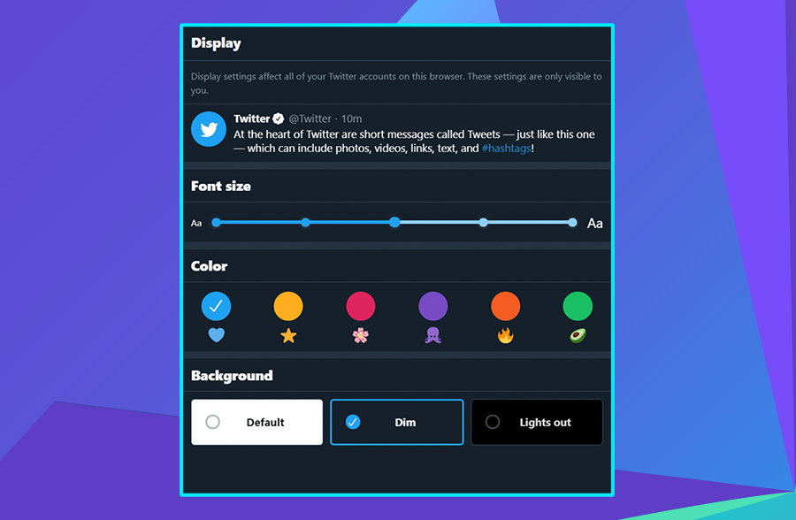 Modern website design: Twitter's use of dark mode