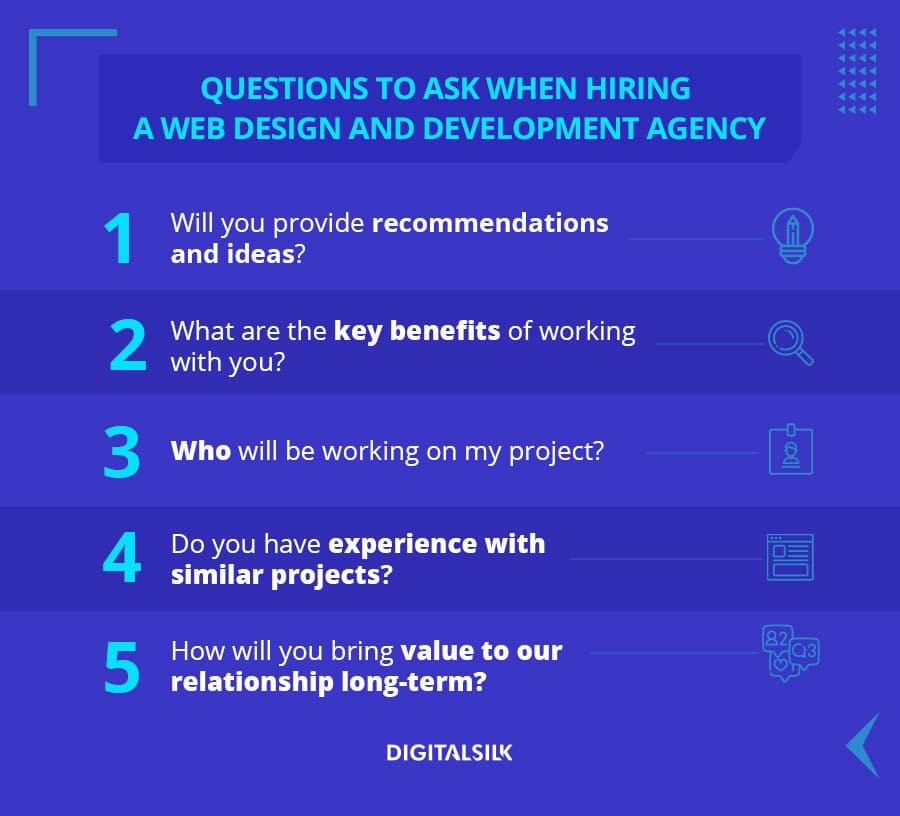 web design agency questions