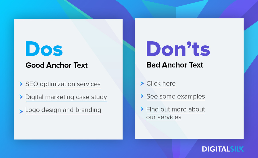 Link anchoring dos and don'ts