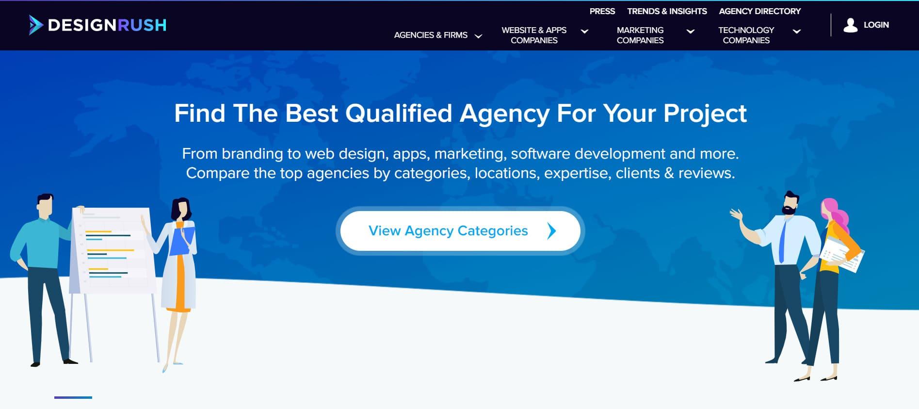 DesignRush Homepage