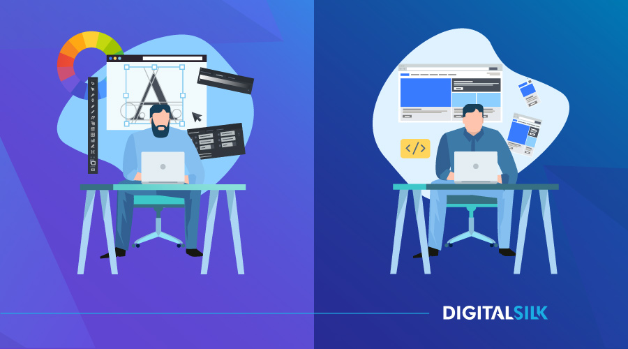 web design vs web development hero image