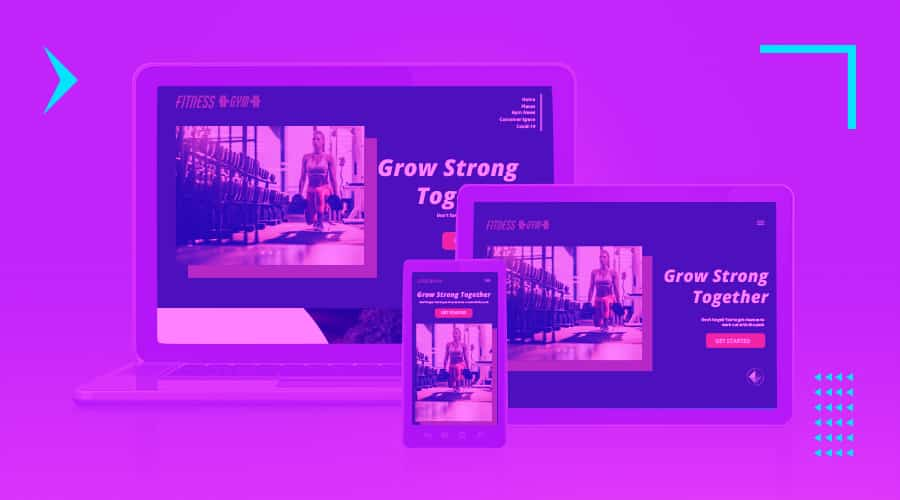 Responsive website design across devices to represent corporate web design