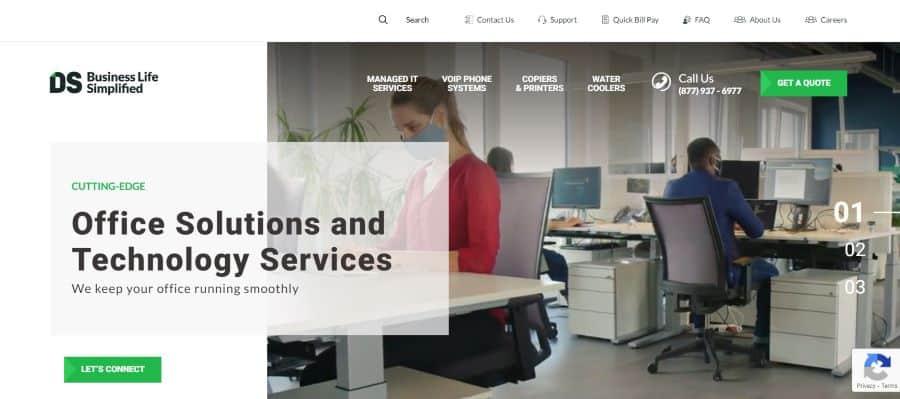 做umnet Solution公司网页设计屏幕截图