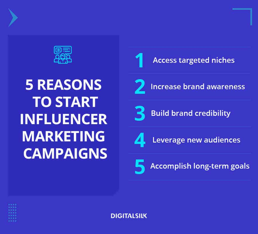 A custom mage to showcase 5 reasons for using influencer marketing