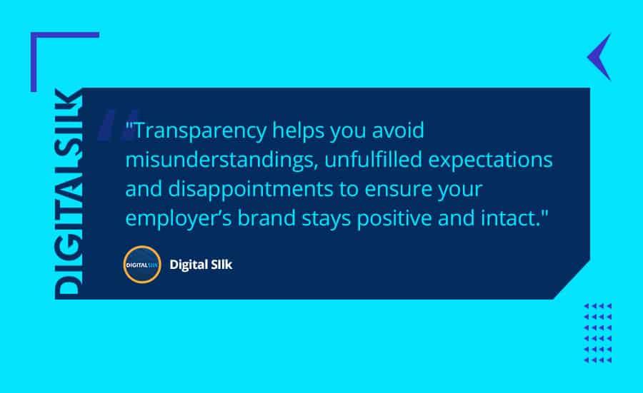 Employer branding transparency
