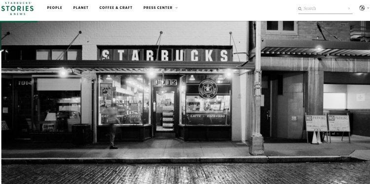 Starbucks created a corporate brand