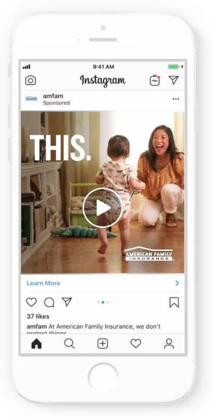 Instagram ad example: American Family Insurance