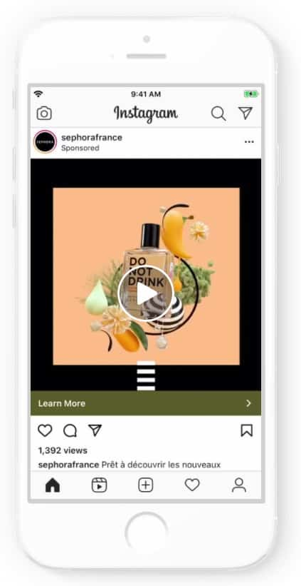Instagram ad example: Sephora Collection