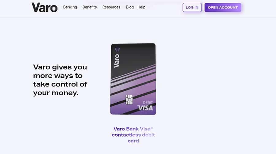 bank web design Varo