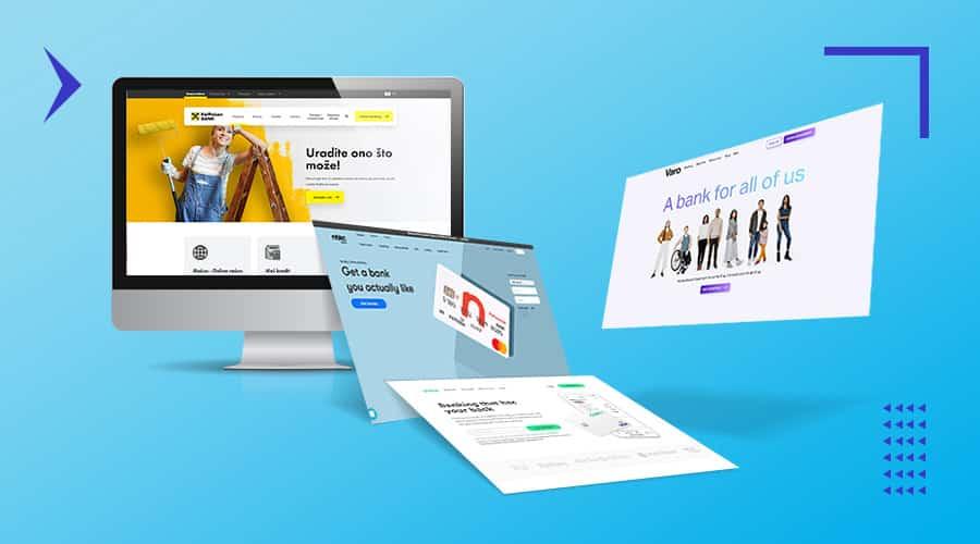 bank website design hero image