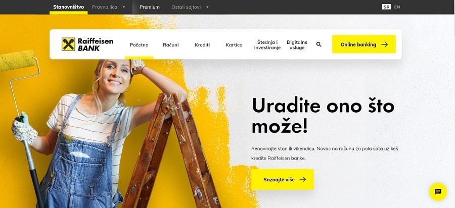 financial web design homepage