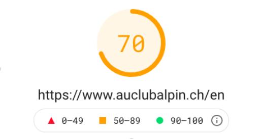 Hotel web design Au Club Alpin page speed