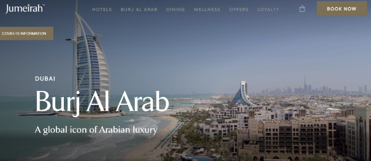 Hotel web design Burj Al Arab video