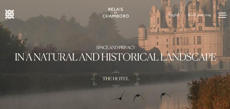 Hotel web design Relais de Chambord home page